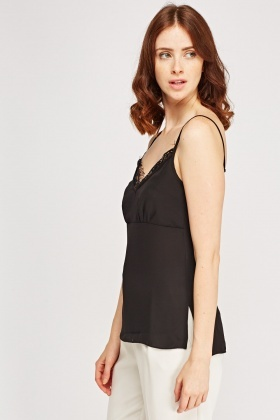 Lace Insert Cami Top