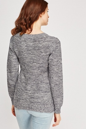 Speckled Slogan Jumper