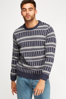 Knitted Print Jumper