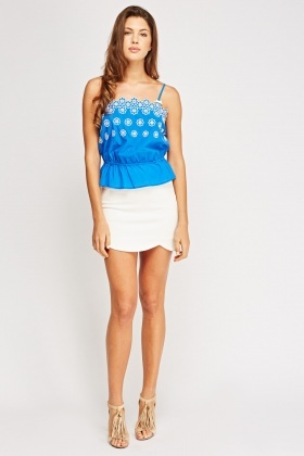 Juicy Couture Royal Blue Flower Cami Top
