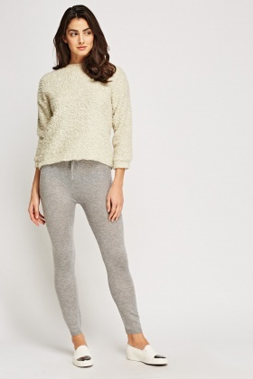 Thin Knitted Basic Leggings