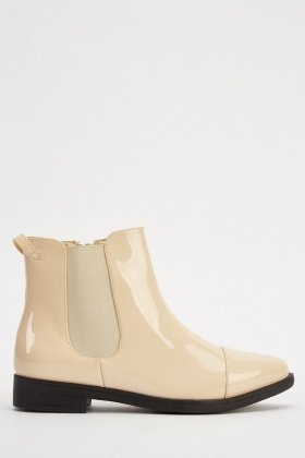 PVC Court Ankle Boots