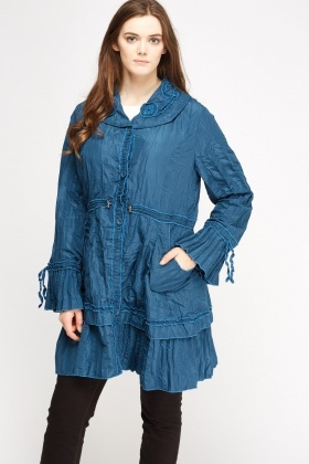 Button Up Crinckled Jacket