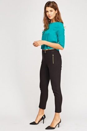 Textured Slim Fit Trousers