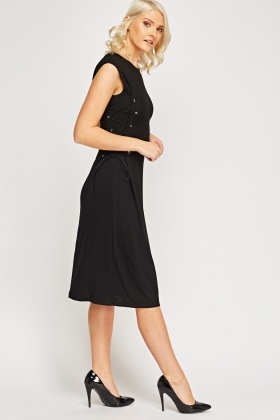 Tie Up Side Midi Dress