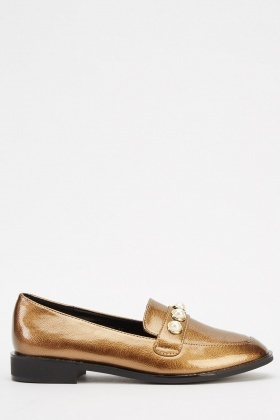 PVC Pearl Loafers