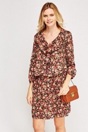 Floral Frilled Dress