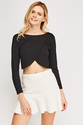 Wrap Front Cropped Top