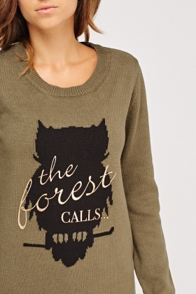Slogan Printed Jumper