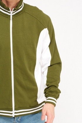 Two Tone Zip Up Jumper