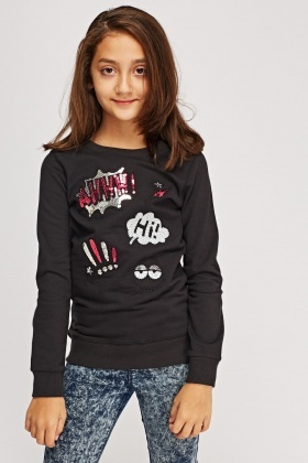 Sequin Graphic Jumper
