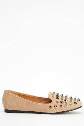 Studded Spiked Flat Shoes