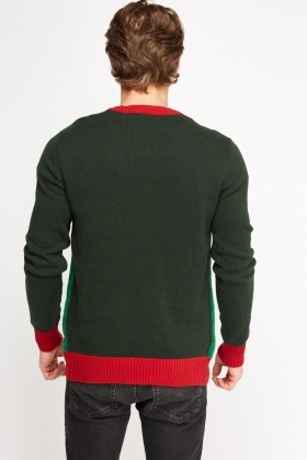 Christmas Print Sweater