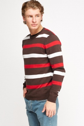 Dark Brown Stripe Jumper