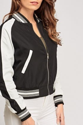 Embroidered Back Light Weight Bomber Jacket