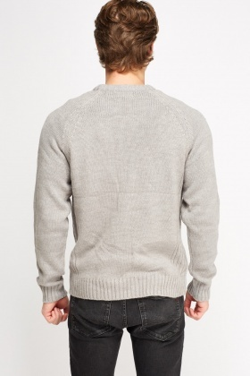 Ribbed Trim Knitted Jumper