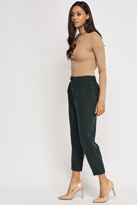Cigarette Forest Green Trousers