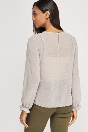Dotted Sheer Blouse