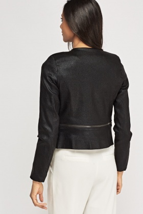 Lurex Cropped Blazer