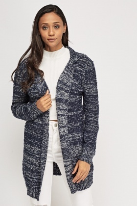 Speckled Long Knitted Cardigan