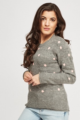 Dotted Knitted Jumper