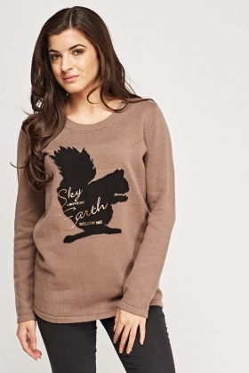 Squirrel Knitted Jumper