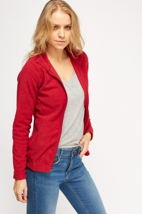 Fleece Casual Zipped Jumper