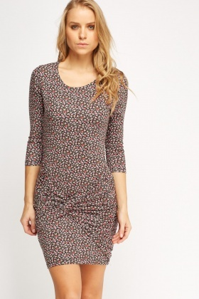 Floral Ruched Dress