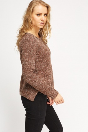 Knitted Round Neck Jumper