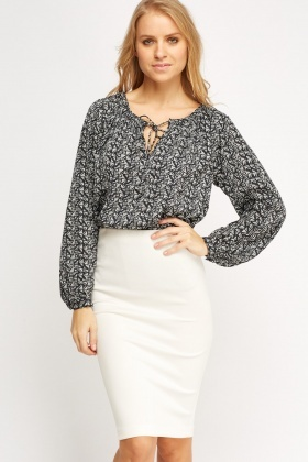 Mono Printed Blouse