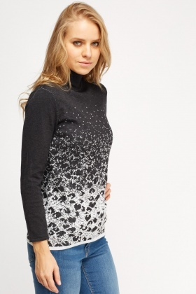 Roll Neck Metallic Insert Jumper