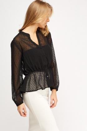 Sheer Textured Blouse