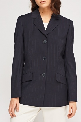 Formal Pinstriped Blazer