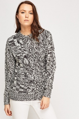 High Neck Speckled Jacket