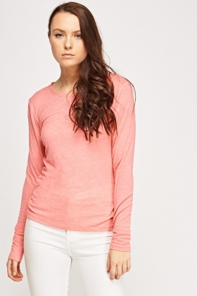 Long Sleeve Pink Top