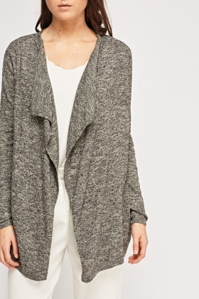 Open Front Speckled Cardigan