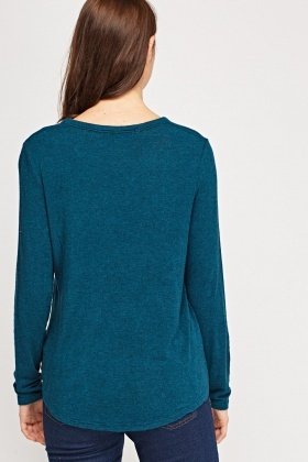 Pocket Front Long Sleeve Top