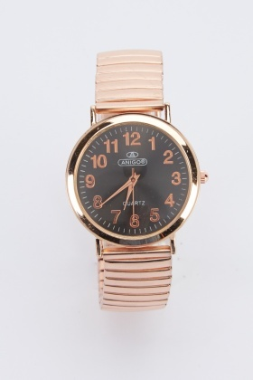 Circle Face Elasticated Watch