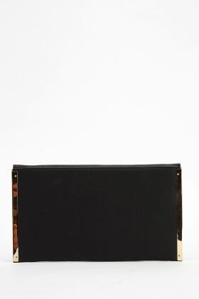 Gold Trim Envelope Clutch Bag