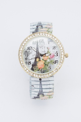 Paris Encrusted Face Watch