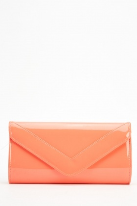 PVC Envelope Clutch Bag