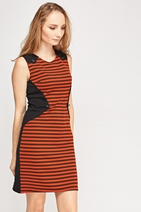 Contrast Textured Dress