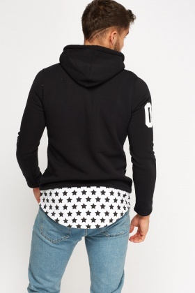 Star Print Hooded Jumper