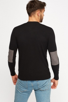 Contrast Elbow Sweater