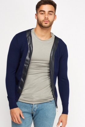 Zip Up Contrast Jumper