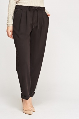 Elasticated Straight Leg Trousers