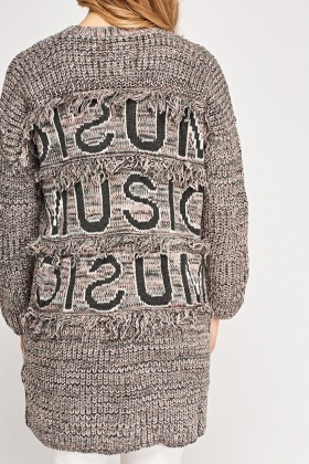 Music Logo Knitted Cardigan