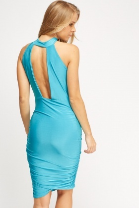 Open Back Ruched Dress