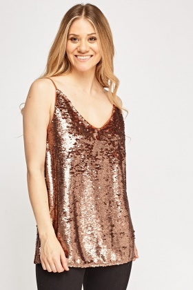 Sequin Low Neck Top