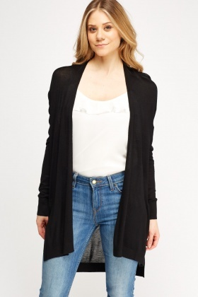 Thin Knit Open Front Cardigan